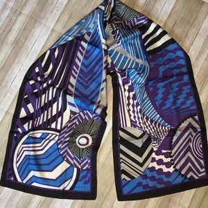 Nicole Miller Studio Oblong Blue Blk Violet Scarf